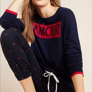 Anthropologie Sundry Amour Sweater Women's XL NWT